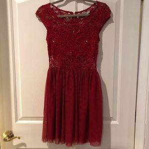 Like New Flared Out Lace Dress